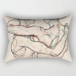 "Egon Schiele ""Naked Girls Embracing"" Rectangular Pillow"