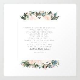 Dwell Richly Art Print
