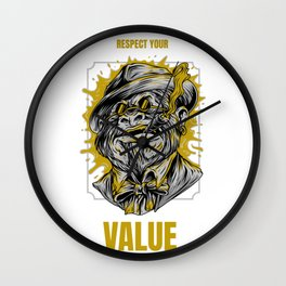 Respect Your Value Wall Clock