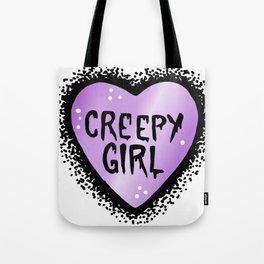 Creepy girl Tote Bag