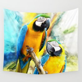 Macaw friends Wall Tapestry