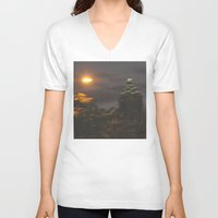 atlanta V-neck T-shirts featuring Atlanta Underwater by Freda Gay Collections