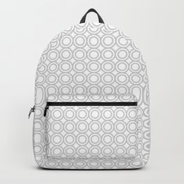 Gray & White Circles Backpack