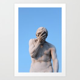 Face Palm Art Print