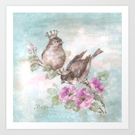 French Crown Songbirds I Art Print