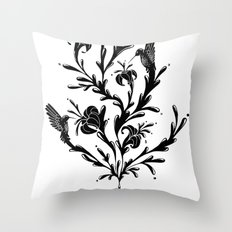 Fluid Bloom Throw Pillow