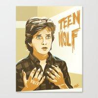 teen wolf Canvas Prints featuring Teen Wolf by IBTrav Pop Shop