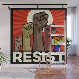 "Official ""RESIST"" Fists Wall Mural"