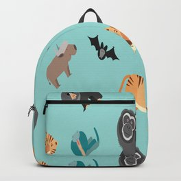 ASIAN JUNGLE ANIMALS PATTERN Backpack