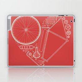 Love Bike (On Red) Laptop & iPad Skin