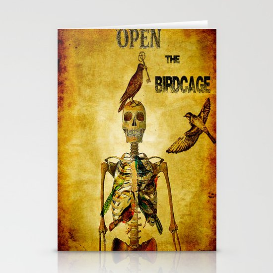 Open the Birdcage Stationery Cards