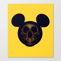 mickey Canvas Prints featuring Mickey by nicebleed