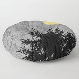Dark pine tree Floor Pillow