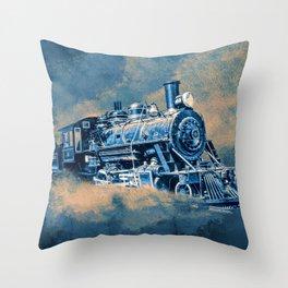 Night Line Blues Throw Pillow