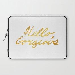 Hello, Gorgeous Gold Laptop Sleeve