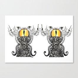 Saffron Stare Canvas Print