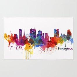 Birmingham Watercolor Skyline Rug