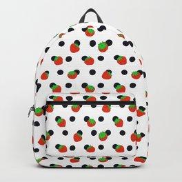 Polka dot and strawberries Backpack