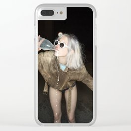 Spilled Milk Clear iPhone Case