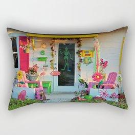 Beach Bungalow Rectangular Pillow