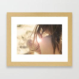 summer girl Framed Art Print