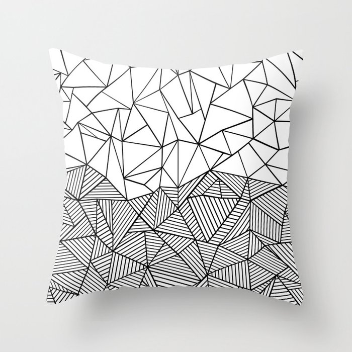 Ab Half n Half Throw Pillow