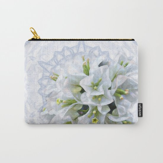 pretty bouganvillea on delicate kaleidoscope Carry-All Pouch