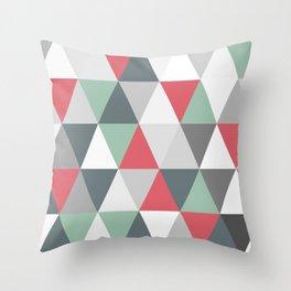 Rombi pink and light blue Throw Pillow