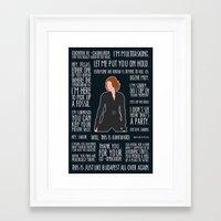 black widow Framed Art Prints featuring Black Widow by MacGuffin Designs