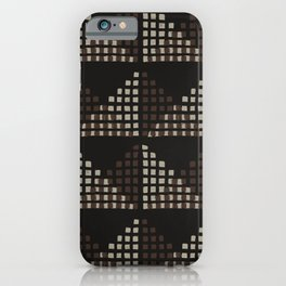 Layered Geometric Block Print in Chocolate iPhone Case