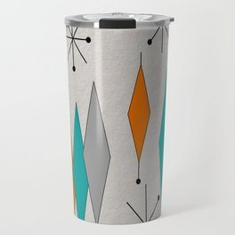 Mid-Century Modern Diamond Pattern Travel Mug
