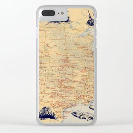 American Military Posts 1944 Clear iPhone Case