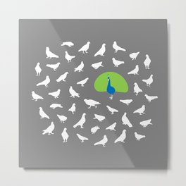 Don't Give a Flock! Metal Print