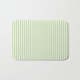 Color of the Year 2017 Greenery and White Mattress Ticking Stripes Bath Mat