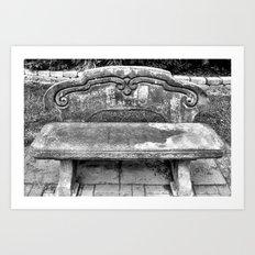Lone Bench Art Print