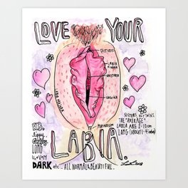 Love your labia Art Print