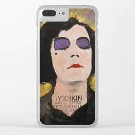 SILENT DIVA IN BACK Clear iPhone Case