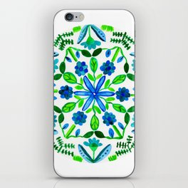 Green Growing Garden Mandala iPhone Skin