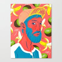 kiwi Canvas Prints featuring Kiwi by Jerome M
