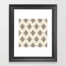 Square Mandala Pattern Framed Art Print