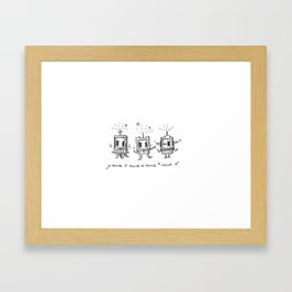 Dance Bots Framed Art Print