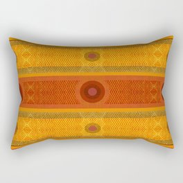 """Ethnic Pattern Warm Tones II"" Rectangular Pillow"
