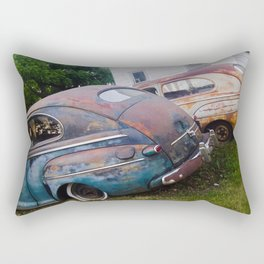 Classic Rusty Ford Cars in Color Rectangular Pillow