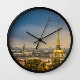 Saint Petersburg Admiralty Wall Clock