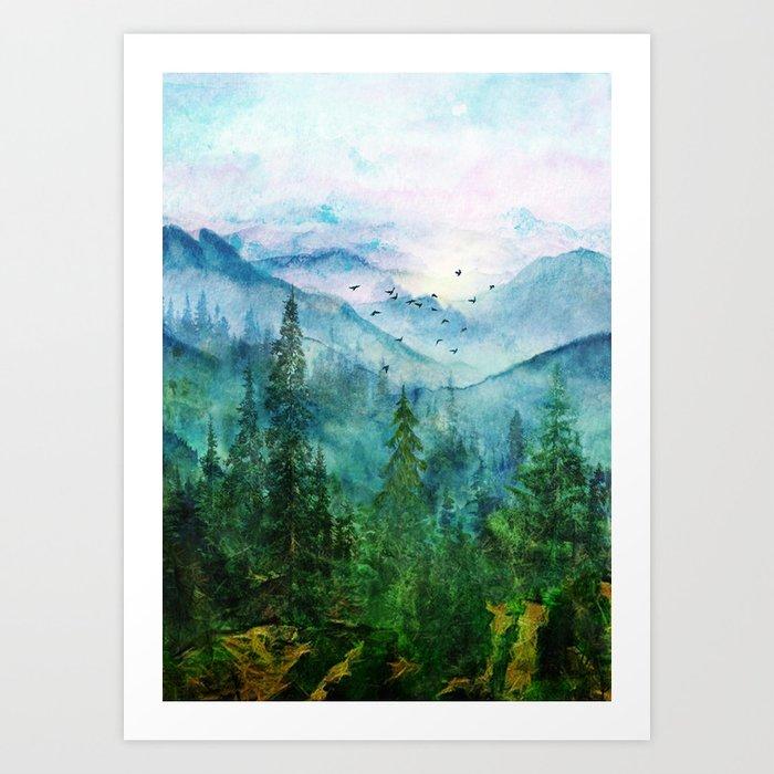 Spring Mountainscape Art Print