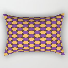 Purple and Yellow Circles Rectangular Pillow