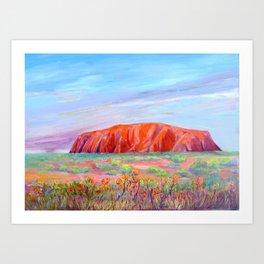 Uluru /Ayers Rock  Art Print