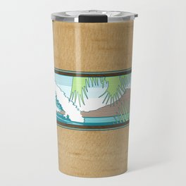 Ala Moana Diamond Head Hawaiian Surf Sign Travel Mug