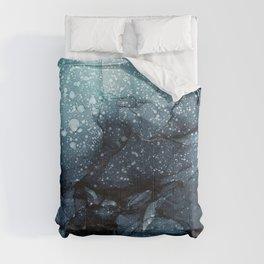 Moody Ocean Seas Ink Abstract Painting Comforters