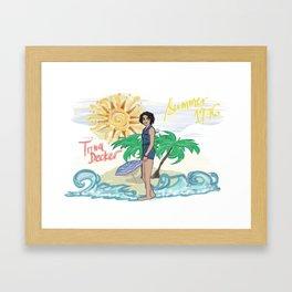 Lana Parrilla as Trina Decker (Swingtown) Framed Art Print
